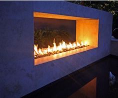 Modern Outdoor Fireplace - contemporary - patio - san francisco - by California Home + Design