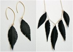 the feathers are made from recycled bicycle tire tubes! too cool.