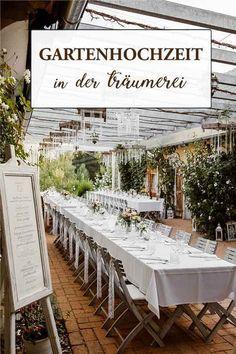 Garden wedding in the reverie - Hochzeit Wedding Locations, Garden Wedding, Wedding Planner, Table Decorations, Austria, Home Decor, Weddings, Outdoor, Party