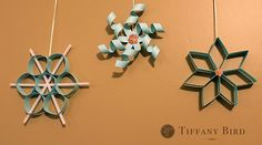 Paper Snowflakes - simple to make, but way cuter than what we came up with in elementary school!