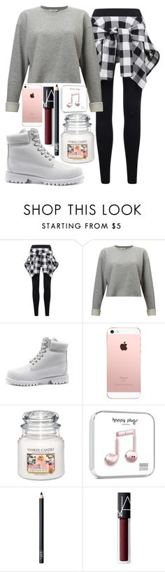"""""""school day"""" by lipsy-look ❤ liked on Polyvore featuring Miss Selfridge, Timberland, Yankee Candle and NARS Cosmetics"""