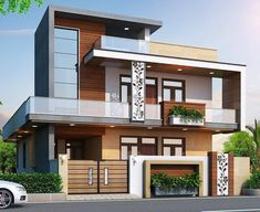 Indian House Exterior Design, Modern Exterior House Designs, Modern House Facades, Latest House Designs, House Outside Design, House Front Design, Small House Design, 2bhk House Plan, Model House Plan