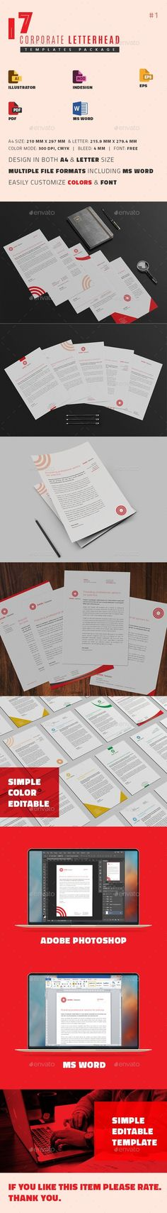 Letterhead Template Letterhead template, Template and Stationery - ms word letterhead templates free download