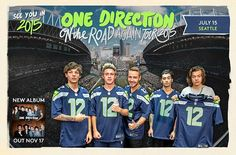 Not really a One Direction fan, but I appreciate that they know their audience and posed with 12th Man jerseys.