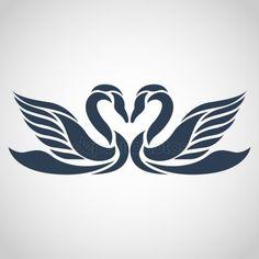 Illustration of swan vector vector art, clipart and stock vectors. Stencils, Stencil Art, Bird Drawings, Pencil Art Drawings, Schwan Tattoo, Image Illusion, Swan Logo, Wood Burning Patterns, Silhouette Vector
