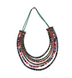 African necklace - Ethnic jewellery - Tribal style by Soutacherie on Etsy