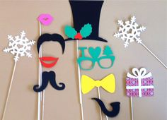 Holiday Photo Booth Props  Set Of 11 by CreativeButterflyXOX, $18.95