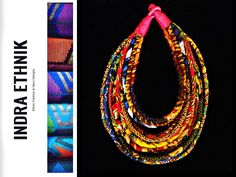 African Wax Fabric Jewelry Mabyeka Collection www.indraethnik.com