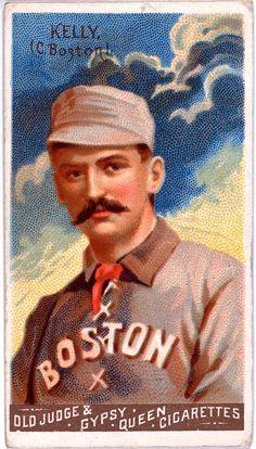 Vintage Baseball Card, King Kelly, Boston Beaneaters