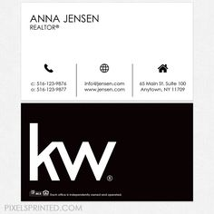 Keller Williams business cards,  KW business cards, realtor business cards, realty business cards, real estate business cards, broker business cards, simple modern real estate business cards, broker cards