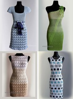 Crochet patterns PDF 4 items