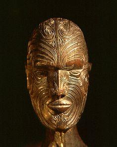 Maori wooden head- Brighton Museum, UK