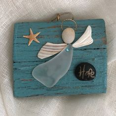 Excited to share the latest supplement to my etsy shop: Driftwood angel/seaglass angel/shell angel/belief angel/angel Seashell Art, Seashell Crafts, Beach Crafts, Rock Crafts, Metal Crafts, Arts And Crafts, Sea Glass Crafts, Sea Glass Art, Broken Glass Crafts