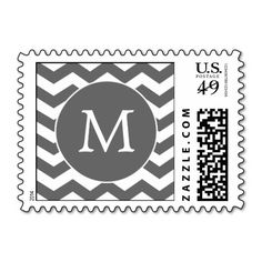 Charcoal Monogram Chevron Stripes Postage Stamps We have the best promotion for you and if you are interested in the related item or need more information reviews from the x customer who are own of them before please follow the link to see fully reviewsDiscount Deals          Charcoa...