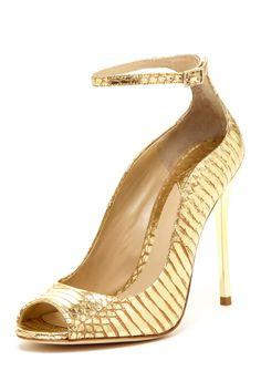 Fleida Open Toe Pump... Bridesmaid's shoes