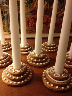 Gingerbread Candle Holders  LinesOfBeauty.com