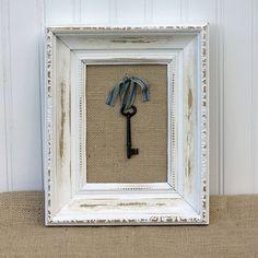 Beach Cottage Style Framed Skeleton Key. $19.99, via Etsy.