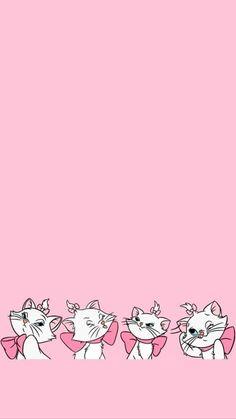 Disney Phone Wallpaper, Cute Wallpaper For Phone, Trendy Wallpaper, Cat Wallpaper, Kawaii Wallpaper, Iphone Wallpaper, The Aristocats, Marie Cat, Disney Background