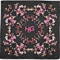 Givenchy Degradé Roses silk-twill scarf