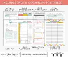 SALE Household Management Binder Kit by LauraDraytonCreative