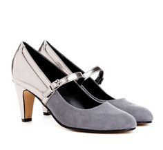 silver & grey pumps...these are my kinda heels