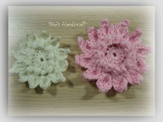 flower, irish lace,How to make puf irish crochet 2d flowers
