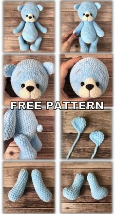 Teddy Bear Amigurumi Free Pattern - Amigurumi Free Patterns - Hooked on Crochet - Teddy Bear Amigurumi Free Pattern - Amigurumi Free Patterns Teddy Bear Amigurumi Free Pattern - Amigurumi Free Patterns Crochet Bear Patterns, Crochet Gratis, Crochet Amigurumi Free Patterns, Crochet Toys, Free Crochet, Crochet Animals, Knitting Bear, Knitted Teddy Bear, Teddy Bear Patterns Free