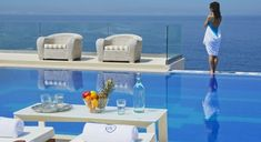 Villa Chrissi is a luxury, seafront villa located in Tersanas, 13 km north-east of the picturesque town of Chania. It offers a private infinity pool and is about 1200 meters away from the sandy beach of Tersanas.