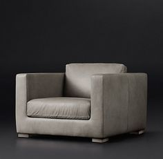 Modena Shelter Arm Leather Chair