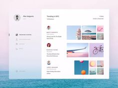 """""""Creating interfaces and experiences that make people smile is inspiration behind a lot of the work that I do. I like to focus on a simple, minimal interface; adding personality in small details like a button hover or the way a page opens or animates into another page."""" Design by @alisaayeed"""
