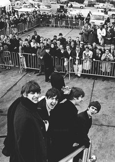 """ A Day In The Life - February The Beatles' American invasion begins. ""The Beatles arrive in the United States for the first time on this day, being welcomed with extreme media coverage and rampant Beatlemania. The demands. Ringo Starr, George Harrison, John Lennon, Paul Mccartney, Great Bands, Cool Bands, Rock And Roll, Harry Benson, Stuart Sutcliffe"