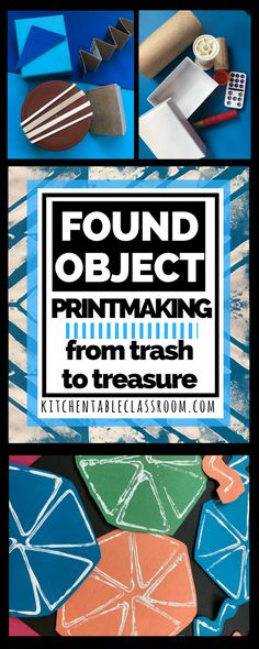 Do you encourage digging through the recycling at your house? Found object printmaking literally turns your trash into treasure.