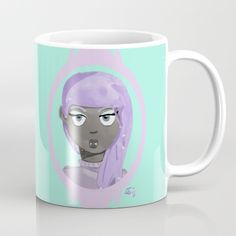 Add a little spooky pastel to your life with this illustration of a vampire done in pastel colour