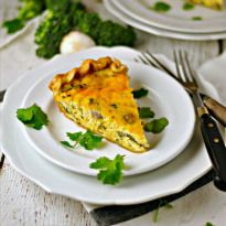 Vegetable Cheddar Quiche - Loaves and Dishes
