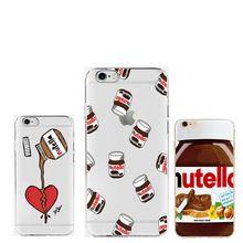 Śliczne Tumblr Nutella Projektowania Przejrzystych Przypadkach Silikonowe…