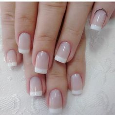 French manicures, french nails, beauty tips, nail art designs, nails desi. Natural Nail Designs, French Nail Designs, Nail Tip Designs, French Tip Manicure, Manicure And Pedicure, Natural French Manicure, White French Nails, Gel Nails French, Manicure Ideas