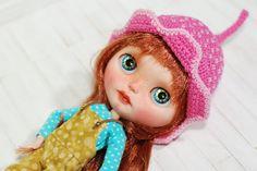 Hut häkeln für Blythe rosa süßen bunten