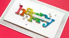 Glitter die cuts and halo glittering. SUPPLIES ARE LISTED BELOW. For more info: http://www.jennifermcguireink.com/?p=18478 -------SUPPLIES------- (Multiple s...