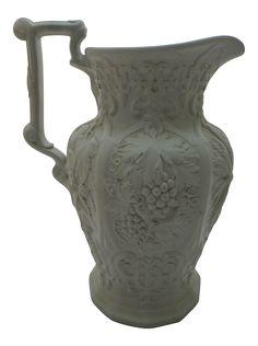 1865 Antique Parian Porcelain Water Pitcher on Chairish.com