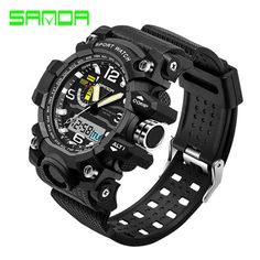 Check lastest price Fashion Waterproof Mens Sports Watches Relogio Masculino 2016 Men Silicone Sport Watch Shockproof Electronic Wristwatch  just only $10.31 with free shipping worldwide  #menwatches Plese click on picture to see our special price for you
