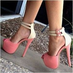 Women's Style Sandal Shoes Fall Fashion Prom Dresses Shoes Winter Wedding Ideas Pink Buckle Peep Toe Pumps Ankle Strap Sandals Christmas Party Outfit Christmas Gifts For Friends Elegant Wedding Dresses Shoes for Music festival, Going out Platform High Heels, Sexy High Heels, Zapatos Shoes, Shoes Heels, Pink Heels, Crazy Shoes, Me Too Shoes, Peep Toe Pumps, Stiletto Heels