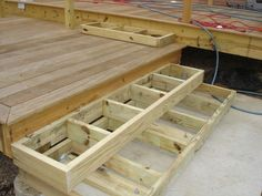 Building Deck Steps Building Deck Stairs Boxes Design And Ideas Deck Stairs, Deck Railings, Stairs Width, Front Porch Stairs, Aluminum Railings, Wood Stairs, Front Porches, Building Deck Steps, Box Building