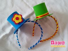 Hat hairband for kids party Clown Party, Circus Theme Party, Carnival Birthday Parties, Circus Birthday, Birthday Party Themes, Circus Crafts, Carnival Themes, Child Day, Craft Work