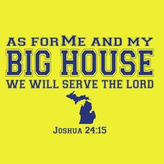 Christian sports parody t-shirt design for Michigan fans.