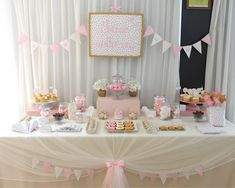 Once Upon a Time Princess Party. This delightful princess party combines cute star and crown sugar cookies, pennant banner, gold crowns made from pipe cleaners, sheer table cover with pink bow ties to get every detail dolled up.