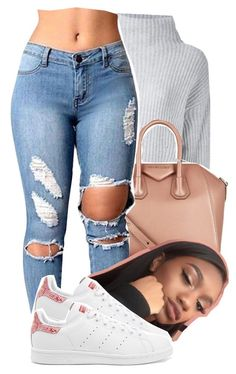 """""""Untitled #822"""" by raeebabyy ❤ liked on Polyvore featuring Le Kasha, Givenchy and adidas Originals"""