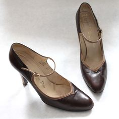 vintage christian dior shoes  http://www.etsy.com/shop/TaiJay?section_id=13955853