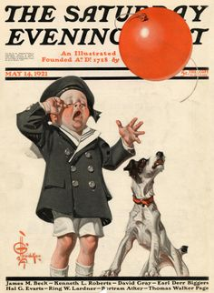 Lost Balloon, May 14, 1921 by J. C. Leyendecker, The Saturday Evening Post.