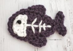 X is for X-ray Fish: Crochet X-ray Fish Applique