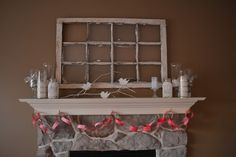 Old/Vintage Window Frames ~ Would look fabulous with added family photos, large artwork behind the frame itself, or distressed painted to match a color scheme! I love old window frames ~ they have so much potential for lots of creative ideas!